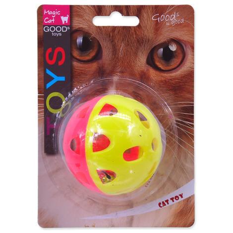 Hračka MAGIC CAT míček neonový jumbo s rolničkou 6 cm 1ks