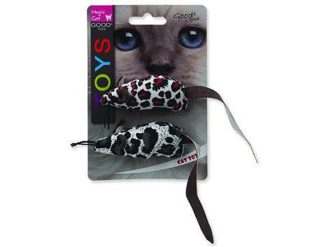 Hračka MAGIC CAT myška látková s catnipem mix 17,5 cm 2ks