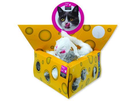 Hračka MAGIC CAT myšky v trojúhelníku 5 cm 24ks