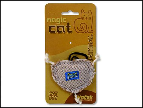Hračka Magic natural srdíčko catnip