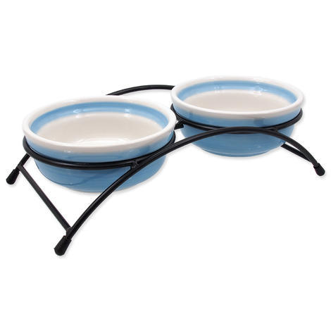 Set MAGIC CAT misky keramické se stojánkem šedé 12,5 cm