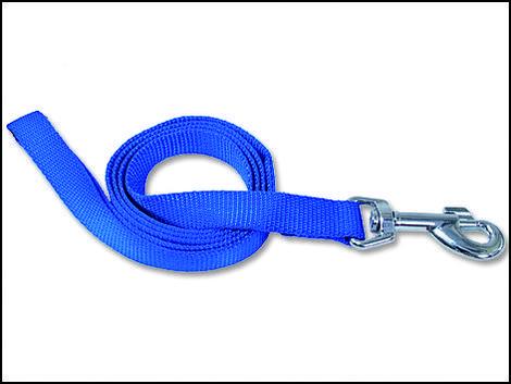 Vodítko DOG FANTASY modré  120 x 2,5 cm