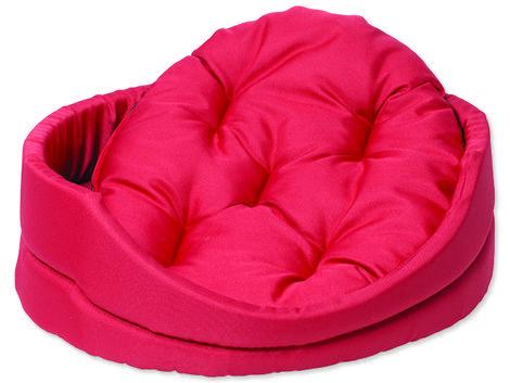 Pelech DOG FANTASY ovál s polštářem červený  75 cm