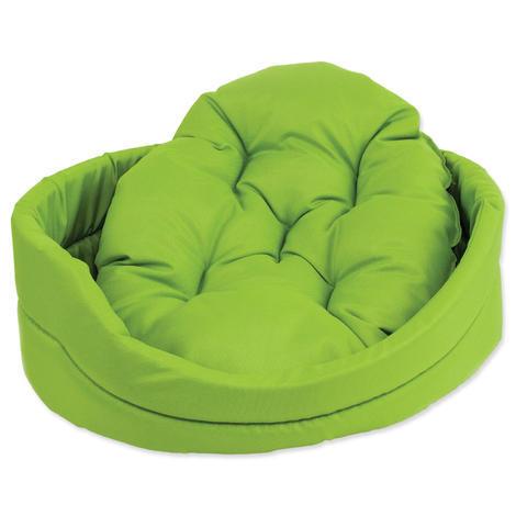 Pelech DOG FANTASY ovál s polštářem zelený  60 cm