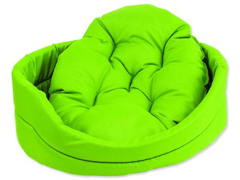Pelech DOG FANTASY ovál s polštářem zelený  75 cm