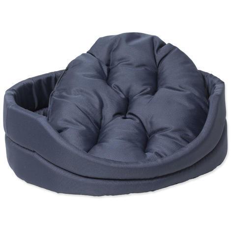 Pelech DOG FANTASY ovál s polštářem tmavě modrý  60 cm
