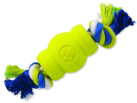 Hračka DOG FANTASY Strong Foamed soudek guma s provazem 6,9 cm 1ks