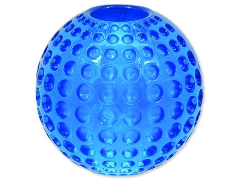 Hračka DOG FANTASY Strong míček gumový s důlky modrý 6,3 cm 1ks