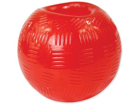 Hračka DOG FANTASY míček gumový červený 9,5 cm 1ks
