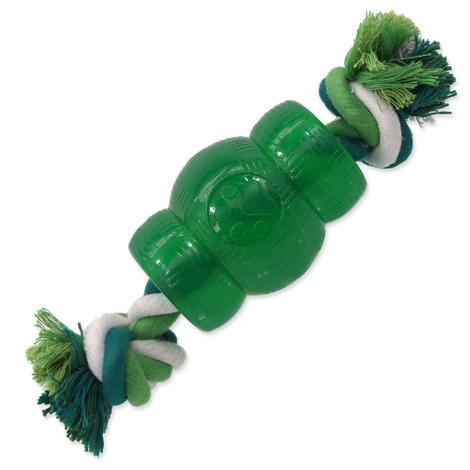 Hračka DOG FANTASY Strong Mint soudek guma s provazem zelený 9,5 cm 1ks