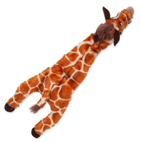 Hračka DOG FANTASY Skinneeez žirafa 1ks