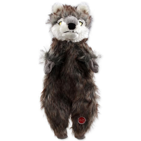 Hračka DOG FANTASY Skinneeez vlk plyšový  34cm
