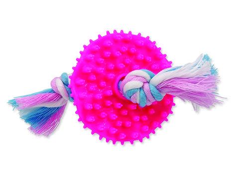 Hračka DOG FANTASY Puppy TPR Dental kolečko růžové 1ks