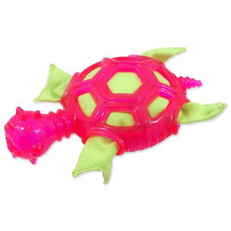 Hračka DOG FANTASY TPR želva růžová  16 cm