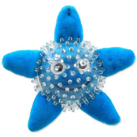 Hračka DOG FANTASY SEA TPR hvězdice v míčku  9 cm