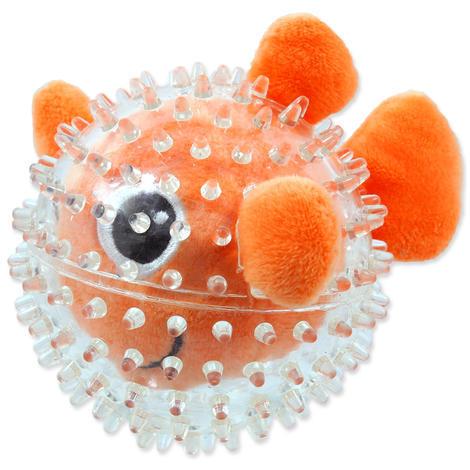 Hračka DOG FANTASY SEA TPR rybka v míčku  9 cm