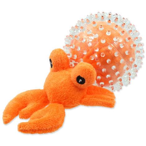 Hračka DOG FANTASY SEA TPR poustevník v míčku  9 cm
