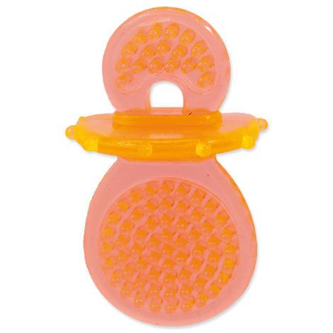 Hračka DOG FANTASY dudlík gumový oranžový 8 cm 1ks