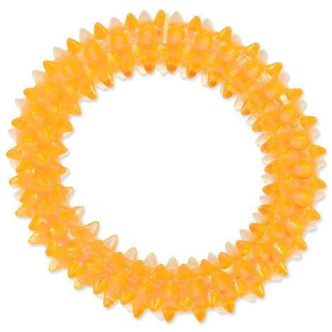 Hračka DOG FANTASY kroužek vroubkovaný oranžový 7 cm 1ks