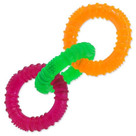 Hračka DOG FANTASY 3 kruhy gumové barevné 16 cm 1ks