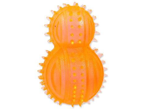 Hračka DOG FANTASY soudek gumový oranžový 1ks