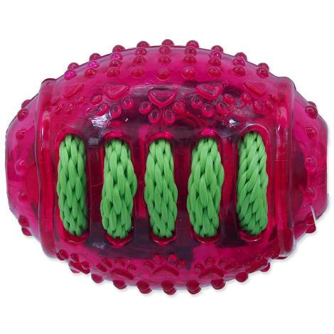 Hračka DOG FANTASY rugby míč gumový růžový 8 cm 1ks