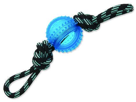 Přetahovadlo DOG FANTASY lano s míčem modré 33 cm 1ks