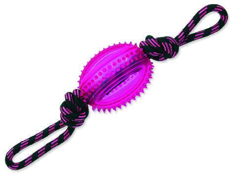 Přetahovadlo DOG FANTASY lano s míčem fialové 38 cm 1ks