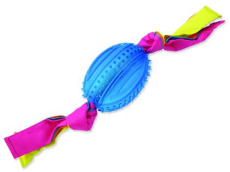 Přetahovadlo DOG FANTASY ovál gumové s látkou modré 48 cm 1ks