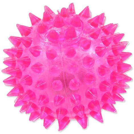 Hračka DOG FANTASY míček LED růžový 6 cm 1ks
