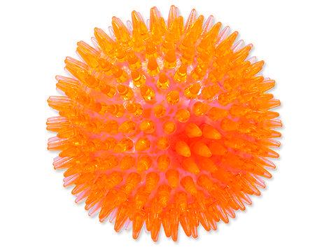 Hračka DOG FANTASY míček LED oranžový 10 cm 1ks