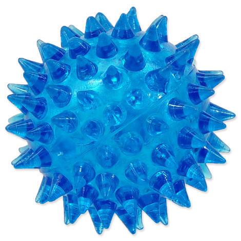 Hračka DOG FANTASY míček pískací modrý 5 cm 1ks