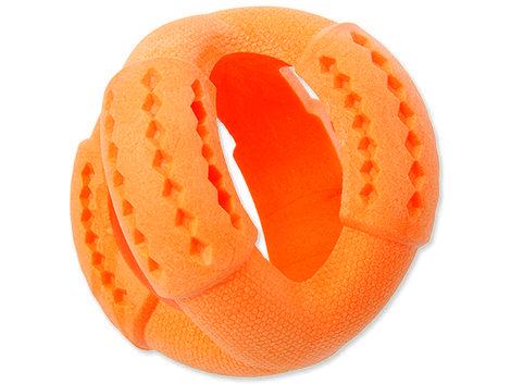 Hračka DOG FANTASY FTPR míč na pamlsky oranžový  11 cm