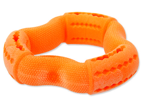 Hračka DOG FANTASY FTPR kruh na pamlsky oranžový  12 cm