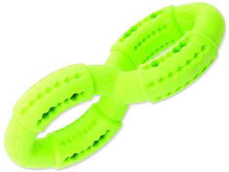 Hračka DOG FANTASY FTPR osmička na pamlsky zelená  19 cm