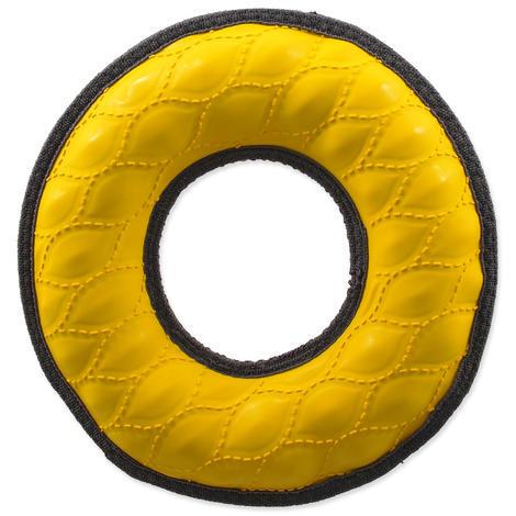 Hračka DOG FANTASY Rubber kruh žlutá  22 cm