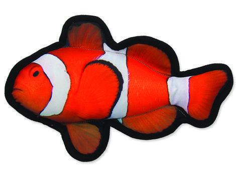 Hračka DOG FANTASY textilní ryba klaun 1ks