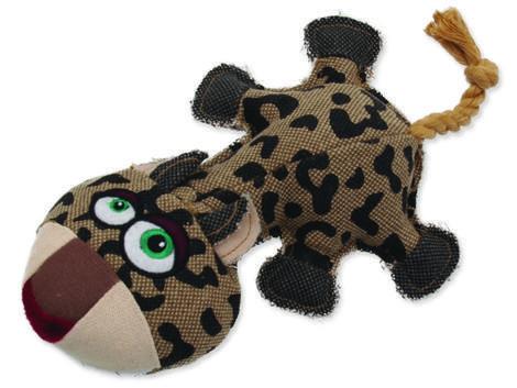 Hračka DOG FANTASY textilní leopard 1ks