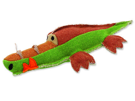 Hračka DOG FANTASY textilní krokodýl 1ks