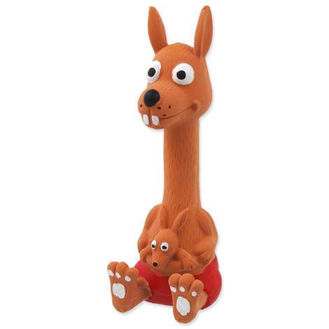 Hračka DOG FANTASY Latex sedící zvířátka se zvukem mix 18 cm 1ks