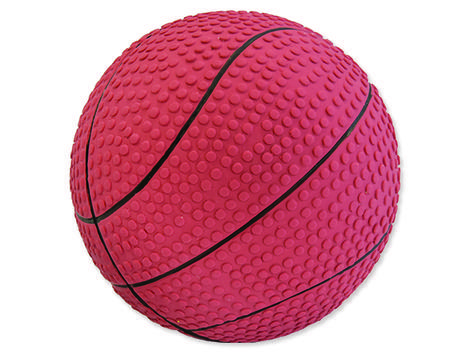 Hračka DOG FANTASY Latex basketball míč se zvukem 10 cm 1ks