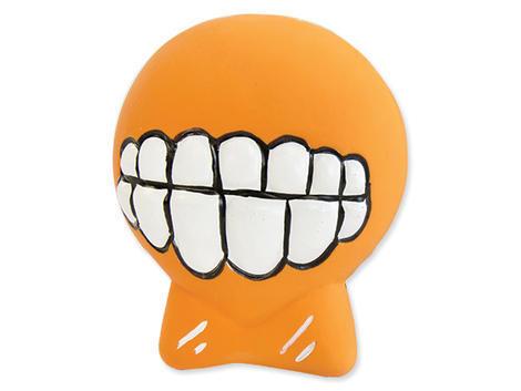 Hračka DOG FANTASY Latex zuby se zvukem oranžové 7 cm 1ks