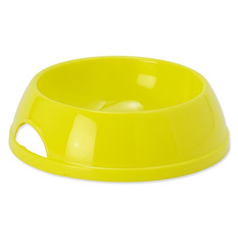 Miska DOG FANTASY plastová žlutá 17,9 cm 470ml
