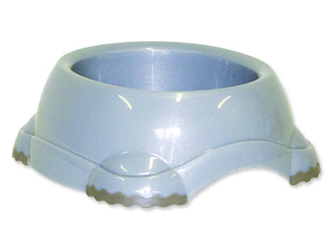 Miska DOG FANTASY plastová protiskluzová šedá 317 ml