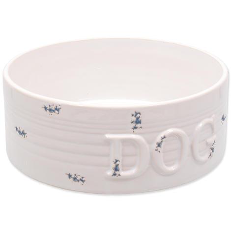 Miska DOG FANTASY keramická bílá modré body 20,5 cm 1,6l