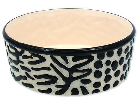 Miska DOG FANTASY keramická zebra 21,5 cm 1,7l