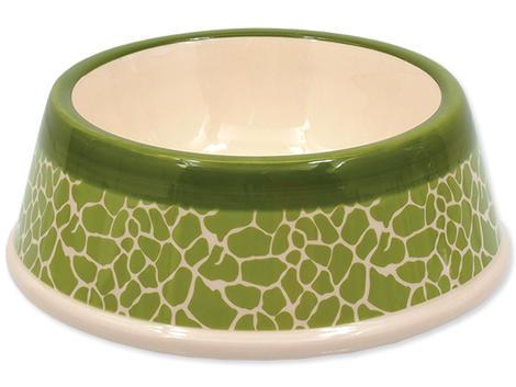 Miska DOG FANTASY keramická žirafa zelená 18 cm 0,45l