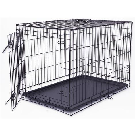 Klec DOG FANTASY skládací černá - 1 dveře L
