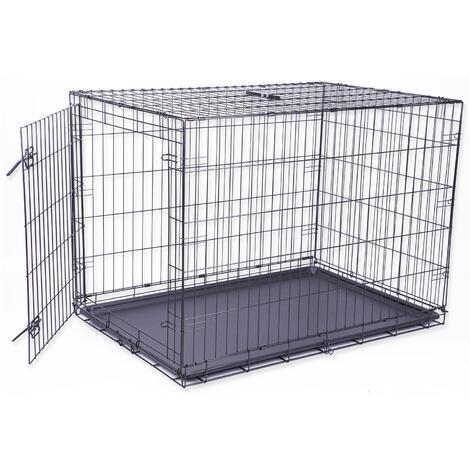 Klec DOG FANTASY skládací černá - 1 dveře XL
