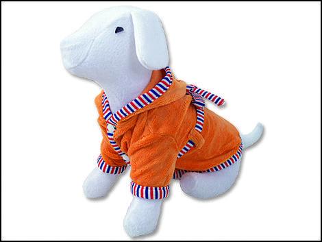 Župan DOG FANTASY s kapucí oranžový L L